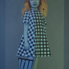 Mädchen mit Blaue Tasche, 2019, Oil auf Leinwand, 140x100 cm