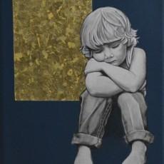 Verkauft - Kinder und Traum 2, 2020, Acryl auf Leinwand, 20x20 cm