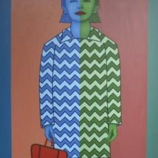 Mädchen mit Roten Tasche, 2020, Oil auf Leinwand, 140x100 cm
