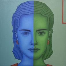 Blau und Grün 3, 2020, Oil auf Leinwand, 50x50 cm