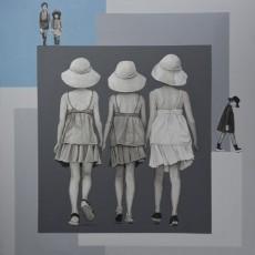 Sommerurlaub 4, 2020, Acryl auf Leinwand, 70x70 cm
