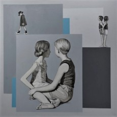 Sommerurlaub 3, 2020, Acryl auf Leinwand, 70x70 cm