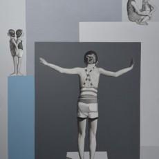 Sommerurlaub 2, 2020, Acryl auf Leinwand, 85x70 cm