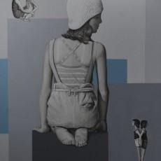 Sommerurlaub 1, 2020, Acryl auf Leinwand, 85x70 cm