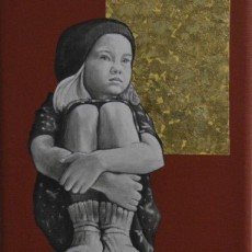 Sold - Child and Dream 1, 2020, Acrylic on canvas, 20x20 cm