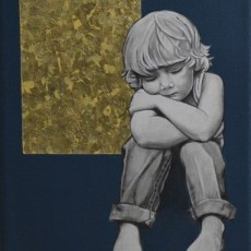 Sold - Child and Dream 2, 2020, Acrylic on canvas, 20x20 cm