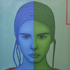 Blue and Green Series 1, 2020, Oil on canvas, 50x50 cm