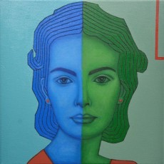 Blue and Green Series 2, 2020, Oil on canvas, 50x50 cm