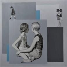 Summer Holiday 3, 2020, Acrylic on canvas, 70x70 cm